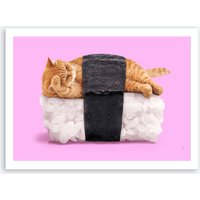 Sushi Cat Print