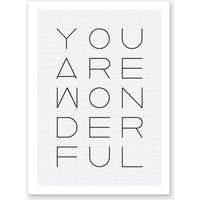 You Are Wonderful Print