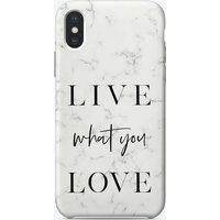 Live What You Love iPhone Case