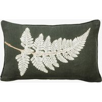 Fern White Small Cushion