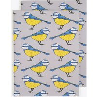 Bold Blue Tit Notebook in A6 (Set of 2)