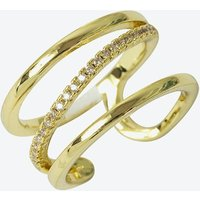 18k Gold 3 Row Cage Ring