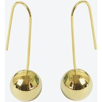 18k Gold Ball Drop Earring on Wire Hook