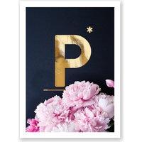 Flower Alphabet P
