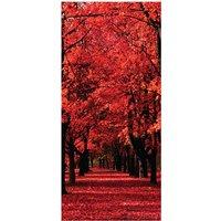 Red Forest Door Mural
