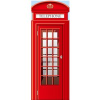 UK Telephone Booth Door Mural