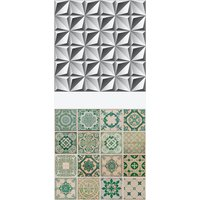 Azulejo of Vintage and Future Self-adhesive Furniture Wrap