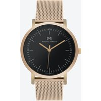 ODYSSEY Watch Rose Gold with Black Face and Rose Gold Mesh Strap, 36mm
