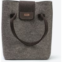 Practical Bag in Natural Mottled/Truffle Brown