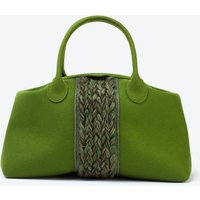 Plait Bag in Olive Green