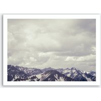 Of Clouds And Mountains_3 Art Print