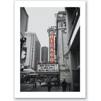 Vintage America Chicago Red Theatre Art Print
