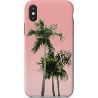 Palm Trees on Pink iPhone Case