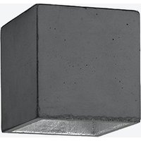 Concrete Ceiling Light Cubic B7 in Dark Grey and Silver