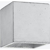 Concrete Ceiling Light Cubic B7 in Light Grey and Silver