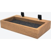 Oak Dual iPhone Dock with Organizer