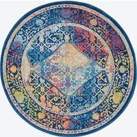 Ankara Global Blue/Multi Round Rug