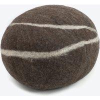 Oskaw-Felt Stone Sitting Stone in Dark Grey