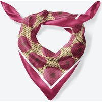 Aubergine Bloom Large Square Silk Scarf 90cm