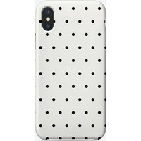 Polka Dots Black and White iPhone Case