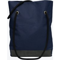Shopper Bag in Navy and Stone