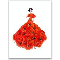 Fashion Poppies Art Print
