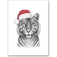 Christmas Tigress Art Print
