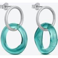 Caramel Earrings in Sea-Blue