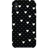 Pin Points Hearts Black iPhone Case
