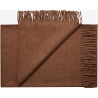 Cusco Baby Alpaca Throw in Red Brown