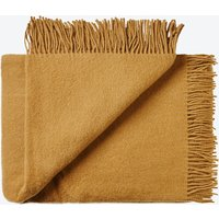 Athen Wool Throw in Camel-Brown