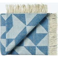 Twist A'Twill Wool Throw in Jeans-Blue