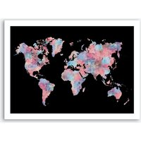 Wanderlust World Map Art Print