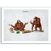 Orange Man Art Print