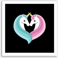 Unicorn Heart Art Print