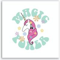Hippie Unicorn Art Print