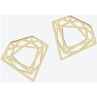 Classic Diamond Stud Earrings in Gold