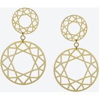 Double Drop Brilliant Diamond Earrings in Gold