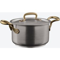 1965 Vintage Stainless Steel 2-Handled Saucepot w/ Lid (16o cm)