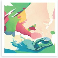 Soft Pop Meadow Art Print