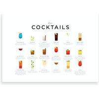 Rum Cocktails Landscape Art Print