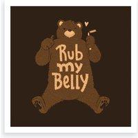 Rub My Belly Art Print