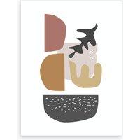 Autumn Vibes Cut Out Shapes Art Print