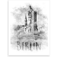 Watercolor Berlin Kaiser Wilhelm Memorial Church Art Print
