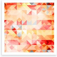 Abstract Watercolor Geometric I Art Print