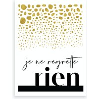 No Regrette Art Print