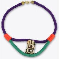 Batik Bone Collar Rope Necklace