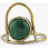 Malachite Geo Ring