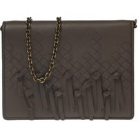 Chain wallet brio bag in woven leather