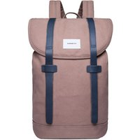 Sandqvist Stig Large Backpack earth brown with navy leather
